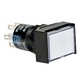 Nút nhấn không đèn, loại vuông màu xanh AB6Q-M1GC