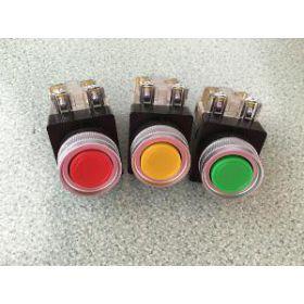 Nút nhấn không đèn màu xanh CR-301-1G