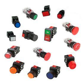 Nút nhấn không đèn viền nhựa màu vàng MRF-TM1Y