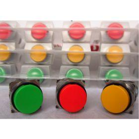 Nút nhấn không đèn, loại tròn màu đỏ AB6M-M1RC