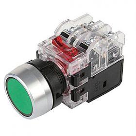 Nút nhấn có đèn màu vàng viền nhôm MRX-RA1A3Y